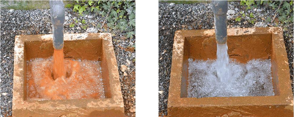 resultat avant et après deferrisation biologique